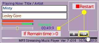 image Restart Button of the Player